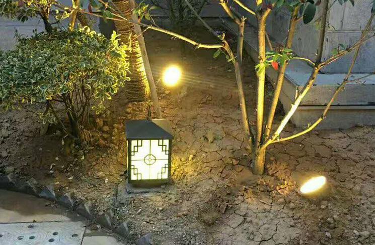 小区地埋灯案例